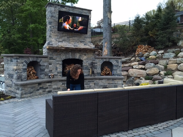 sunbrite tv, monello landscape, wayne nj av, home install, outdoor audio and video